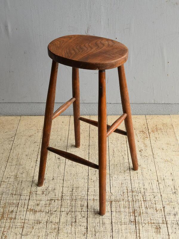 イギリス アンティーク家具 ハイスツール  椅子 8705