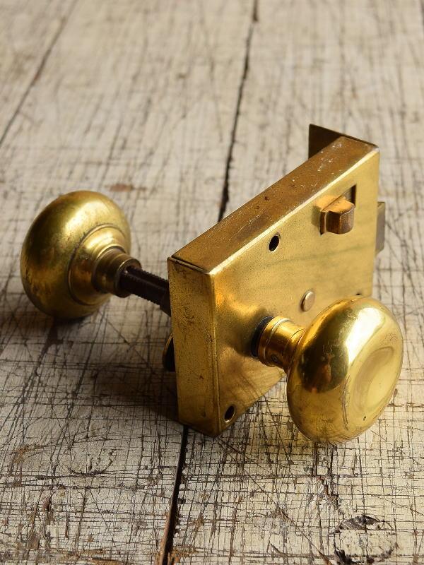 イギリス アンティーク ラッチ&ドアノブ 建具金物 8716