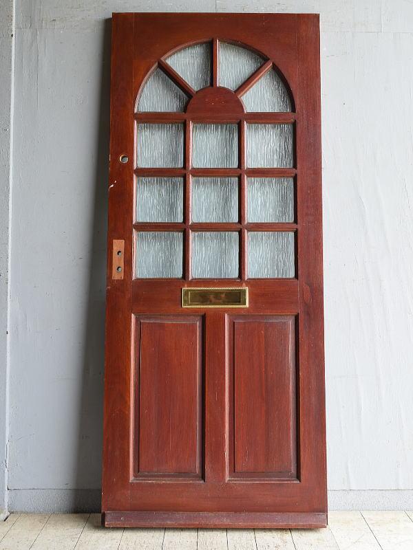 イギリス アンティーク ガラス入りドア 扉 建具 8721
