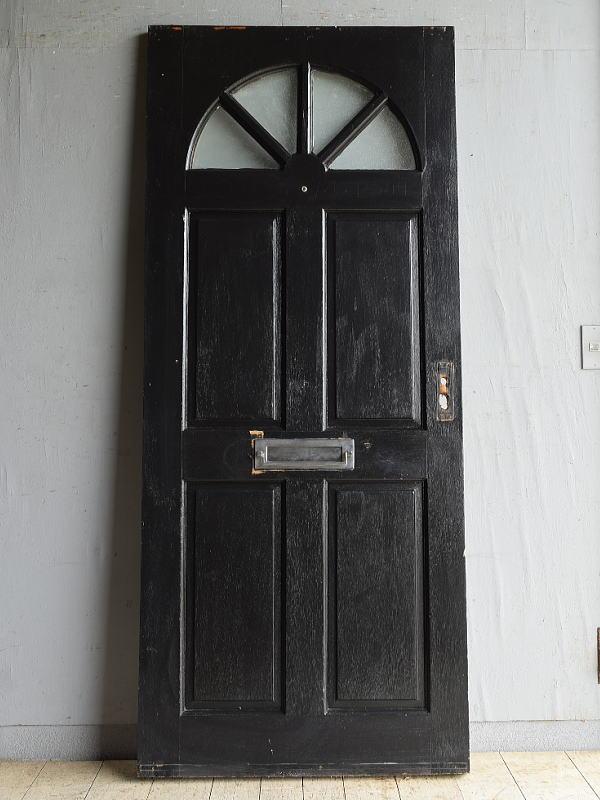 イギリス アンティーク ガラス入りドア 扉 建具 8722