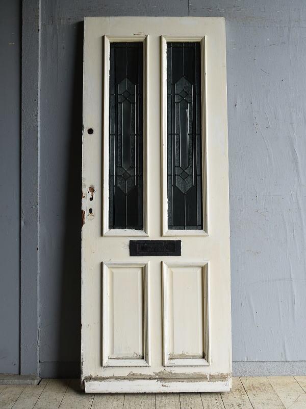 イギリス アンティーク ガラス入りドア 扉 建具 8724