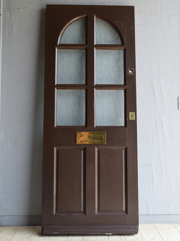 イギリス アンティーク ガラス入りドア 扉 建具 8725