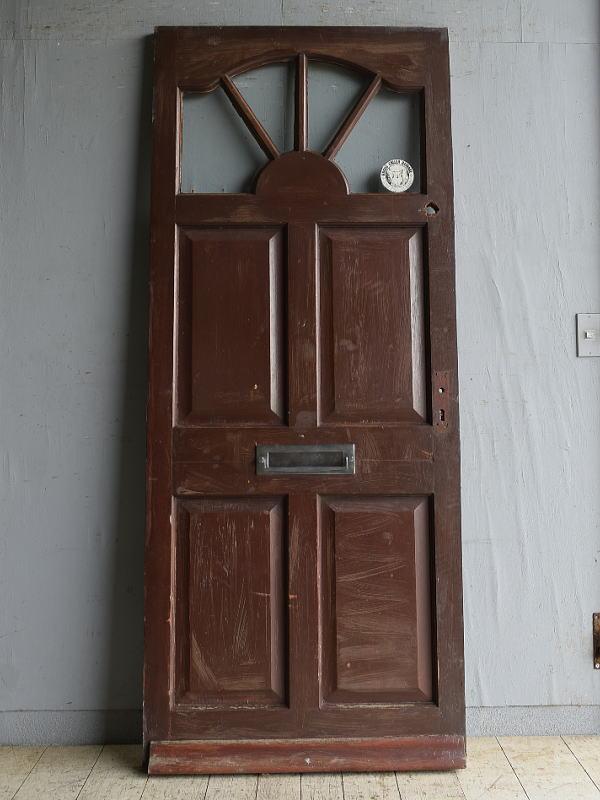 イギリス アンティーク ガラス入りドア 扉 建具 8726