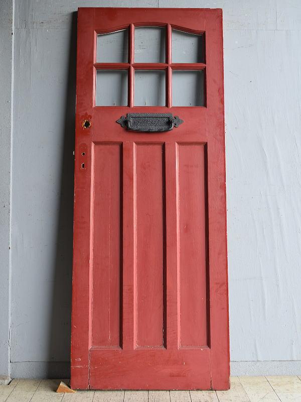 イギリス アンティーク ガラス入りドア 扉 建具 8727