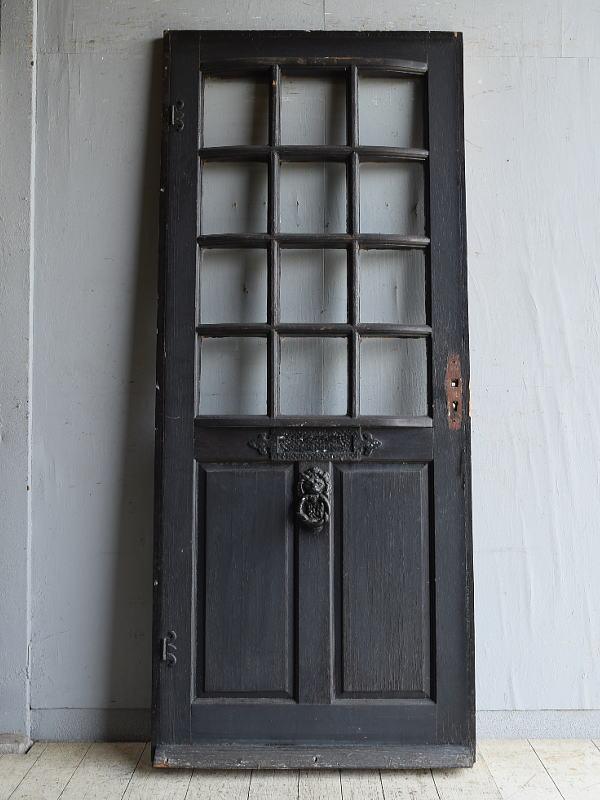 イギリス アンティーク ガラス入りドア 扉 建具 8728