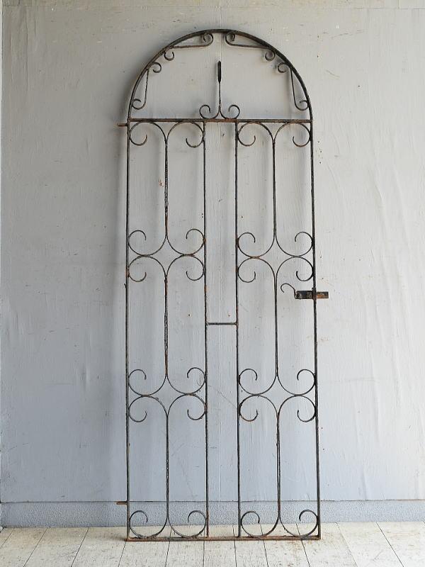 イギリスアンティーク アイアンフェンス ゲート柵 ガーデニング 8731