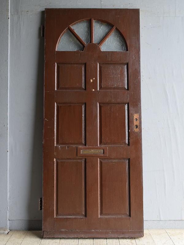 イギリス アンティーク ガラス入りドア 扉 建具 8754
