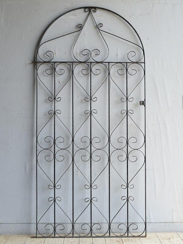 イギリスアンティーク アイアンフェンス ゲート柵 ガーデニング 8761