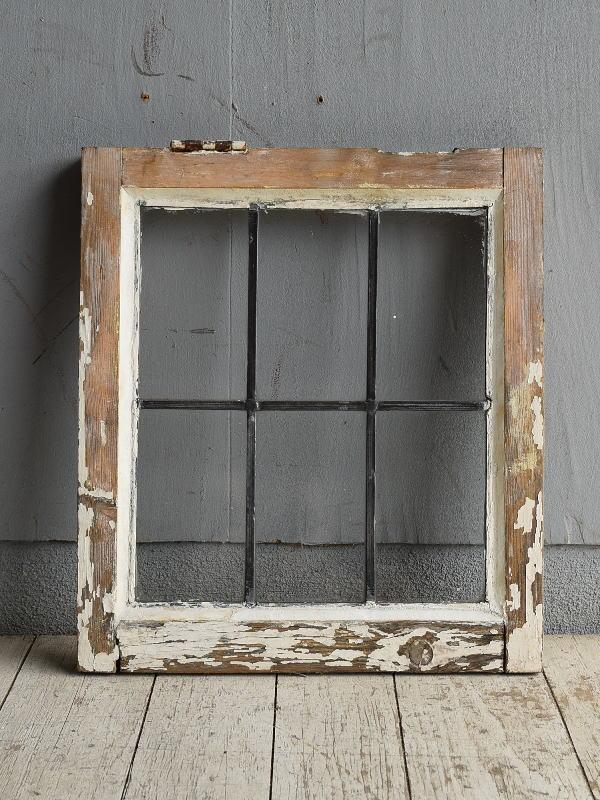イギリス アンティーク 窓 無色透明 8781