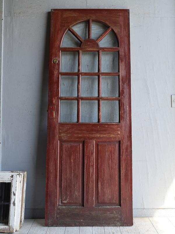 イギリス アンティーク ガラス入りドア 扉 建具 8792
