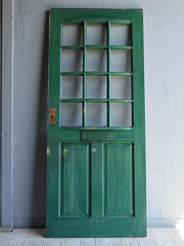 イギリス アンティーク ガラス入りドア 扉 建具 8796