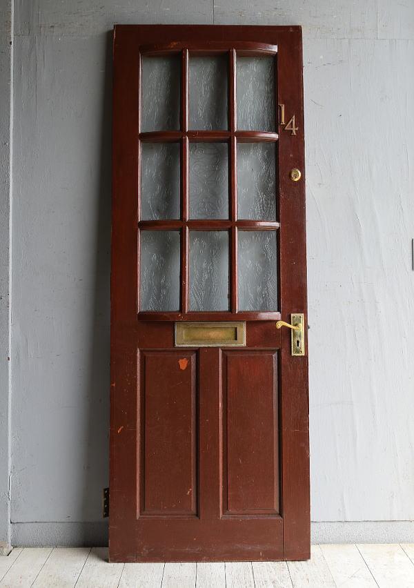 イギリス アンティーク ガラス入りドア 扉 建具 8799