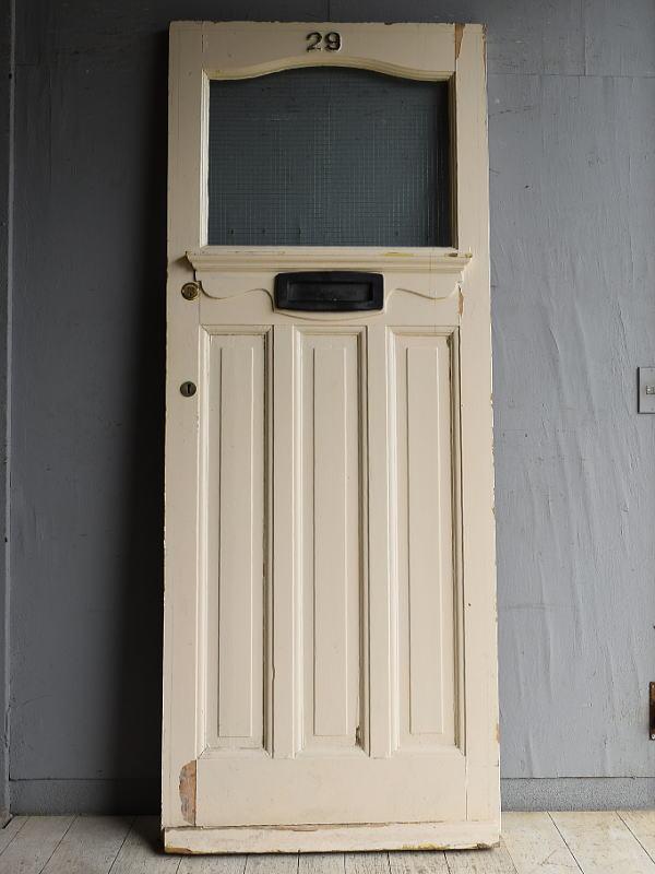 イギリス アンティーク ガラス入りドア 扉 建具 8815
