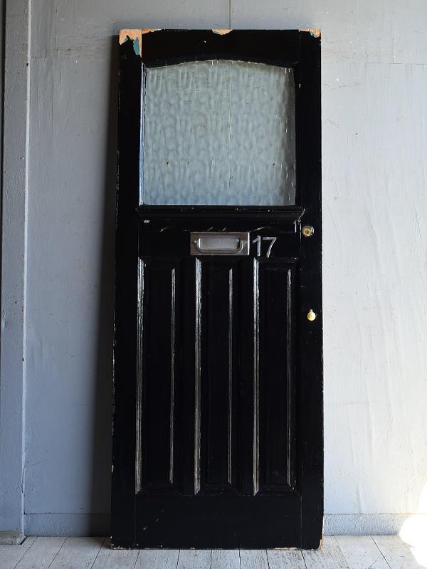 イギリス アンティーク ガラス入りドア 扉 建具 8819