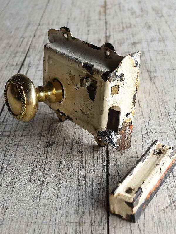 イギリス アンティーク ラッチ&ドアノブ 建具金物 8823