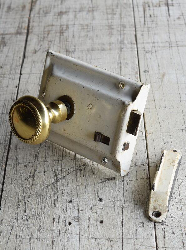 イギリス アンティーク ラッチ&ドアノブ 建具金物 8824