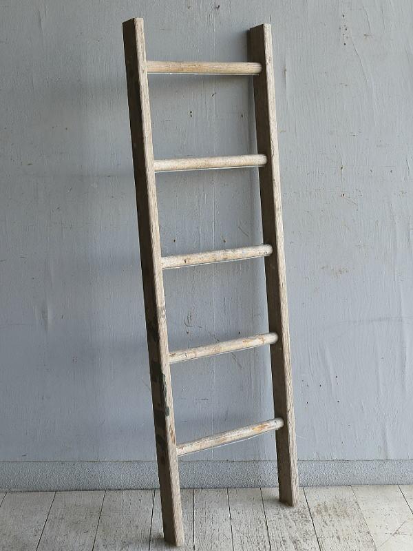 イギリス アンティーク 木製ラダー 梯子 ディスプレイ 8838