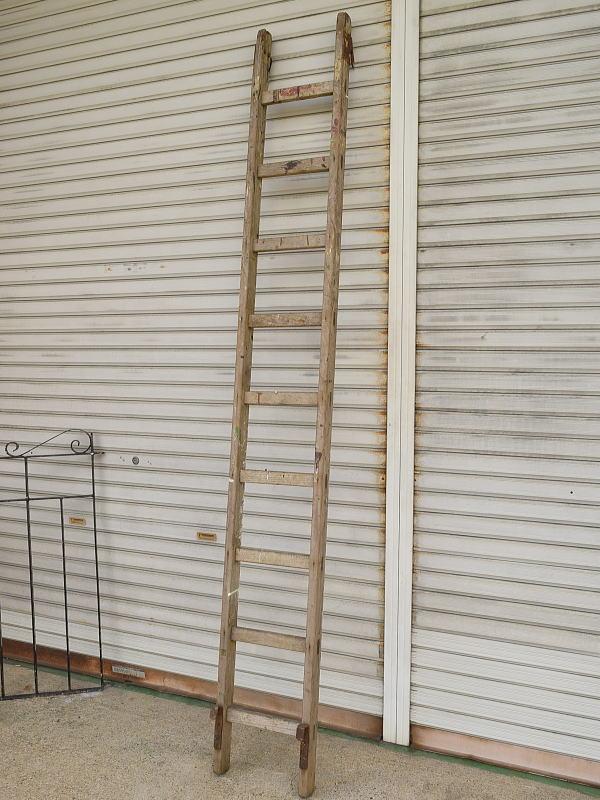 イギリス アンティーク 木製ラダー 梯子 ディスプレイ 8839