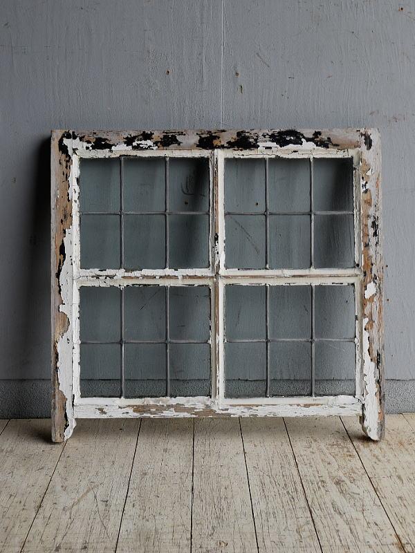 イギリス アンティーク 窓 無色透明 8847
