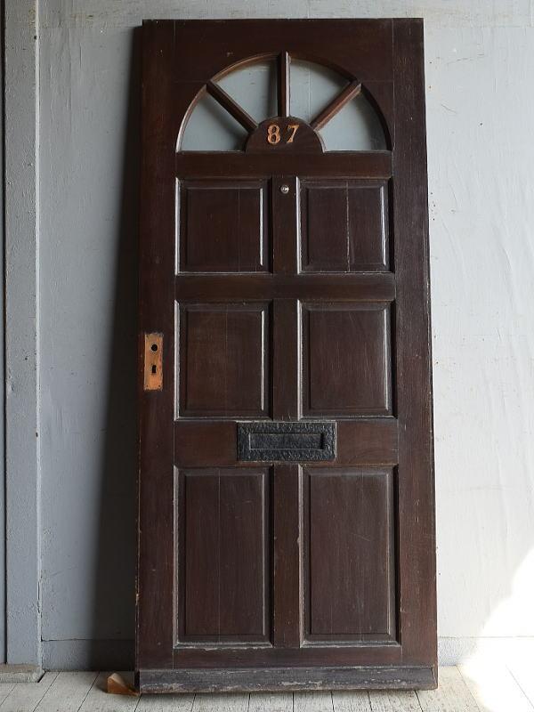 イギリス アンティーク ガラス入りドア 扉 建具 8857