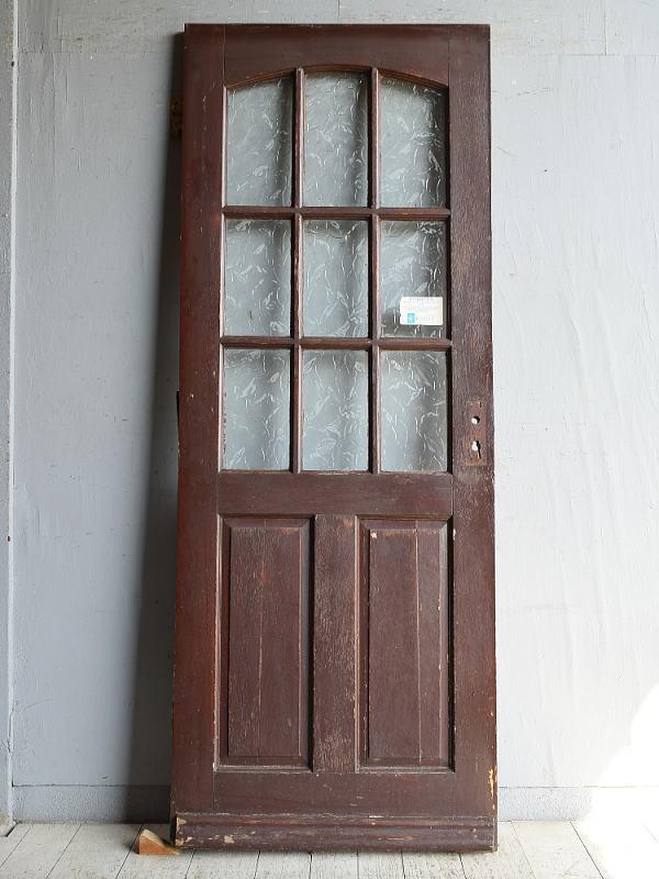 イギリス アンティーク ガラス入りドア 扉 建具 8858