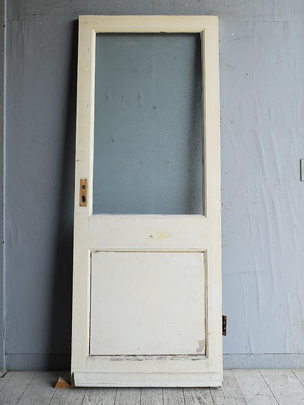イギリス アンティーク ガラス入りドア 扉 建具 8859