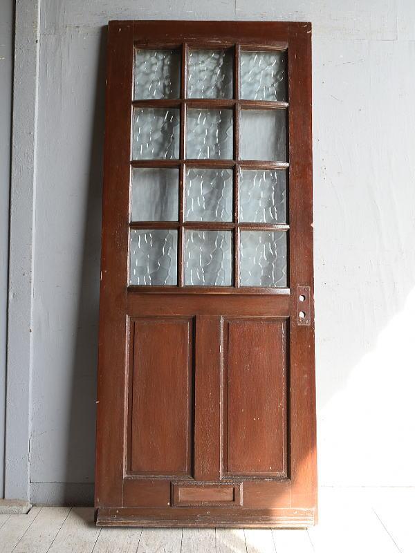 イギリス アンティーク ガラス入りドア 扉 建具 8866