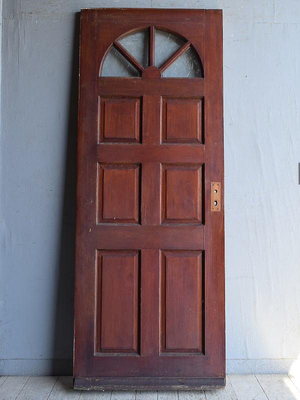 イギリス アンティーク ガラス入りドア 扉 建具 8876