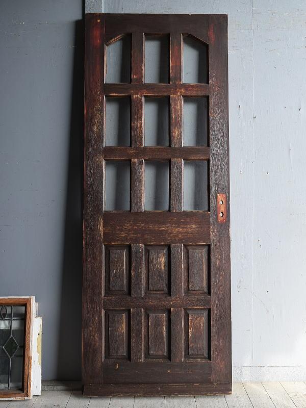 イギリス アンティーク ガラス入りドア 扉 建具 8879