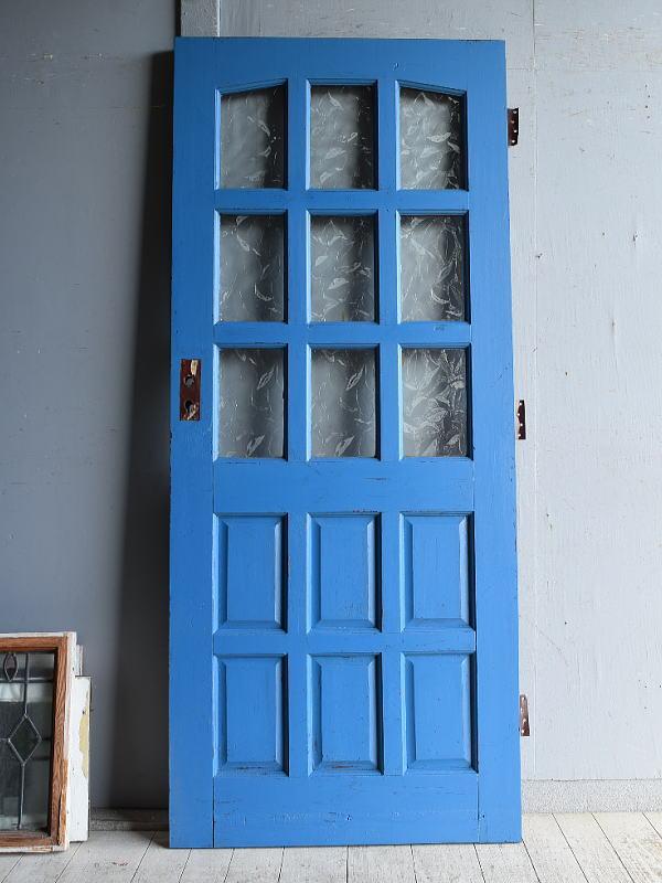 イギリス アンティーク ガラス入りドア 扉 建具 8880