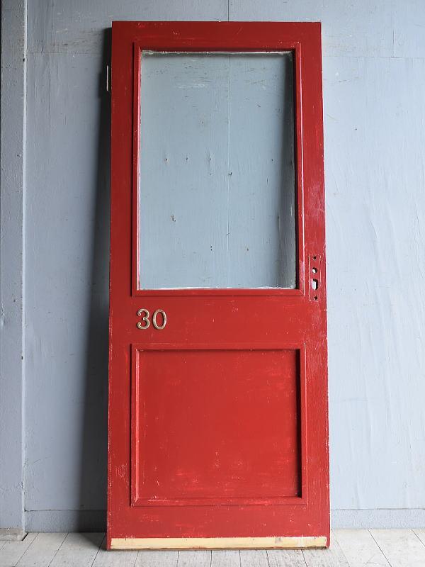 イギリス アンティーク ガラス入りドア 扉 建具 8881