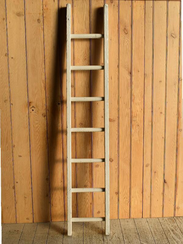 イギリス アンティーク 木製ラダー 梯子 ディスプレイ 8916
