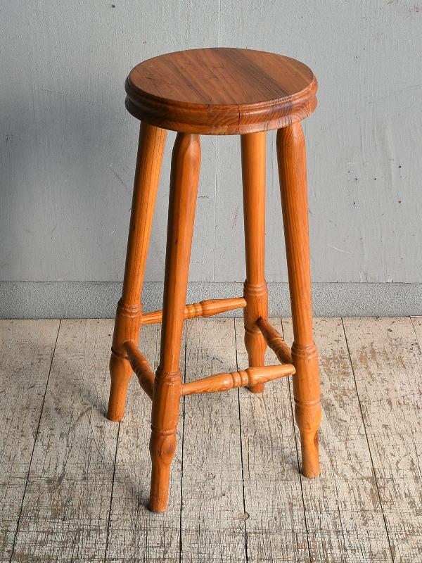 イギリス アンティーク家具 ハイスツール パイン  椅子  8976