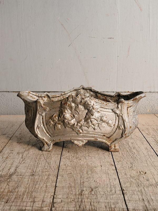 フレンチ アンティーク 鉄製 プランター 植木鉢 8986