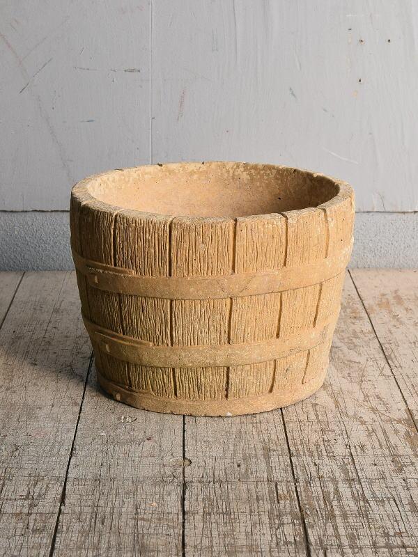 イギリス アンティーク セメント製 プランター 植木鉢 8990