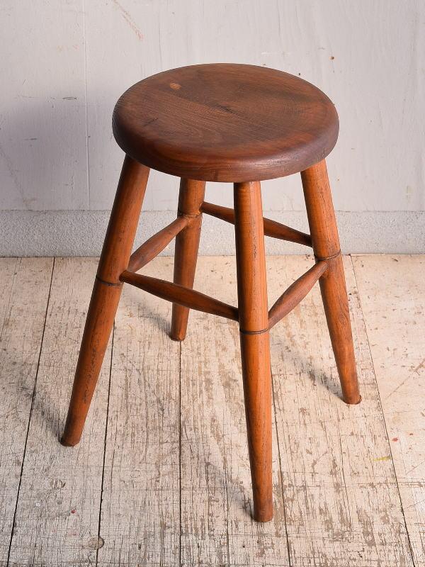 イギリス アンティーク家具 木製 スツール  椅子 9007