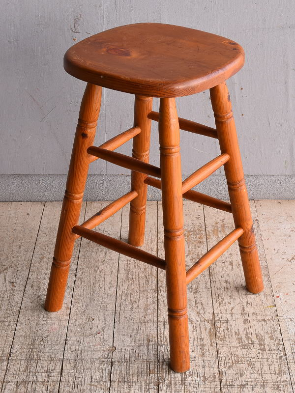 イギリス アンティーク家具 木製 スツール  椅子 9008
