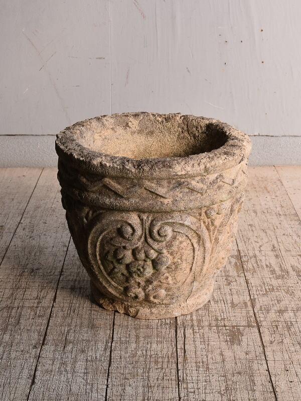 イギリス アンティーク セメント製 プランター 植木鉢 9010