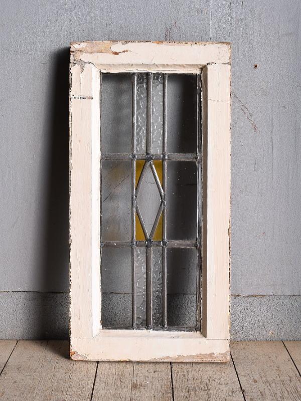 イギリス アンティーク ステンドグラス 幾何学 9024