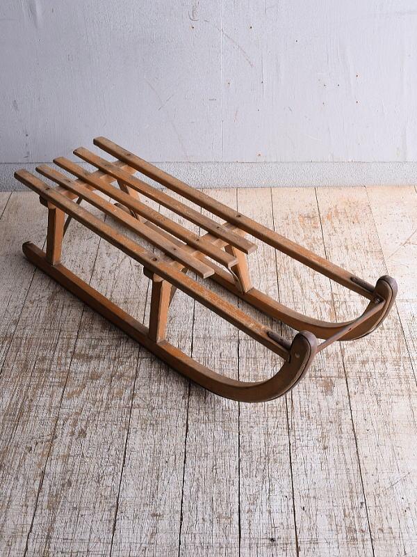 (旧)東ドイツ製 アンティーク 木製ソリ 9035