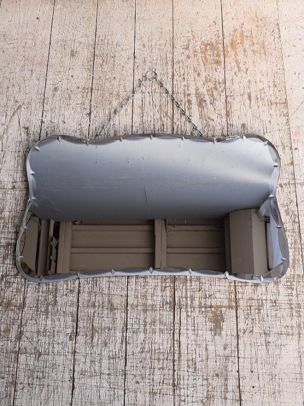 イギリス アンティーク  壁掛けミラー 鏡 9053