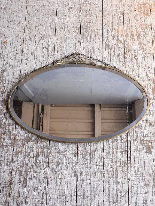 イギリス アンティーク  壁掛けミラー 鏡 9055