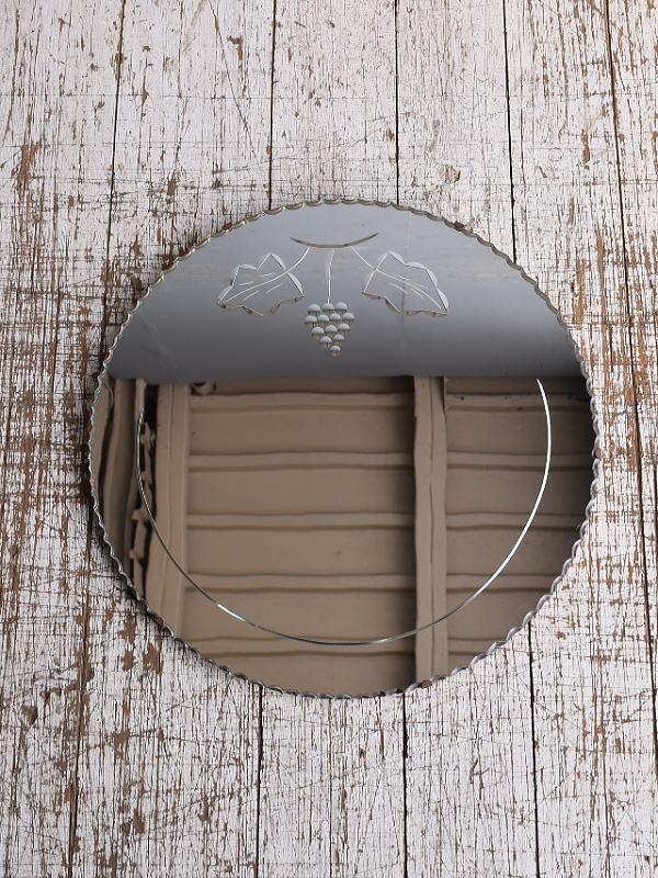 イギリス アンティーク  壁掛けミラー 鏡 9057