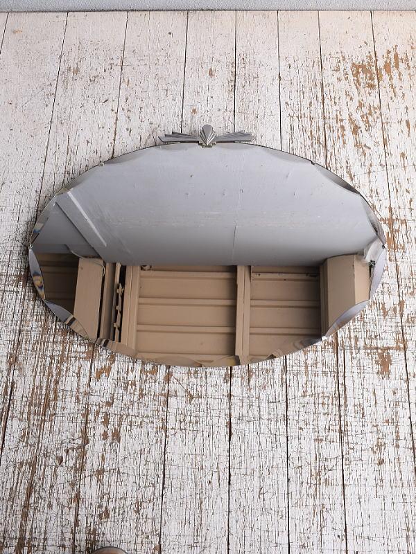 イギリス アンティーク  壁掛けミラー 鏡 9058