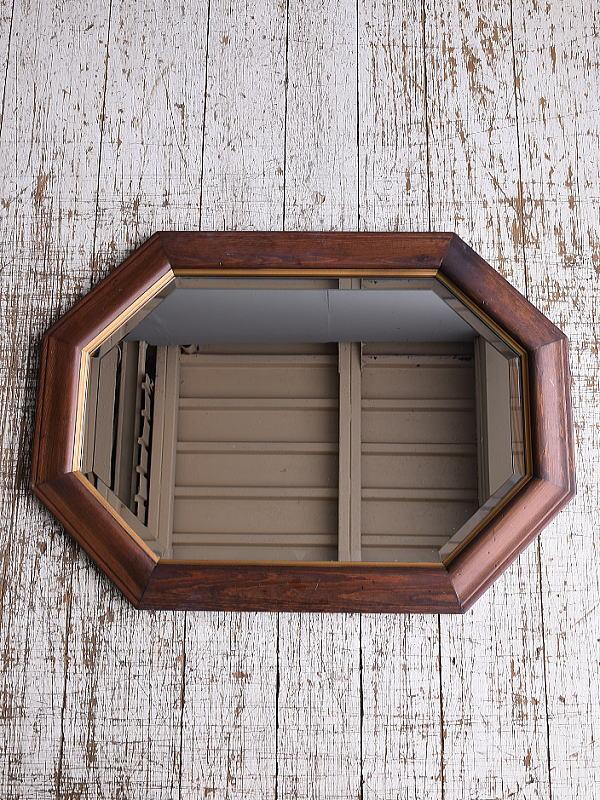 イギリス アンティーク  壁掛けミラー 鏡 906
