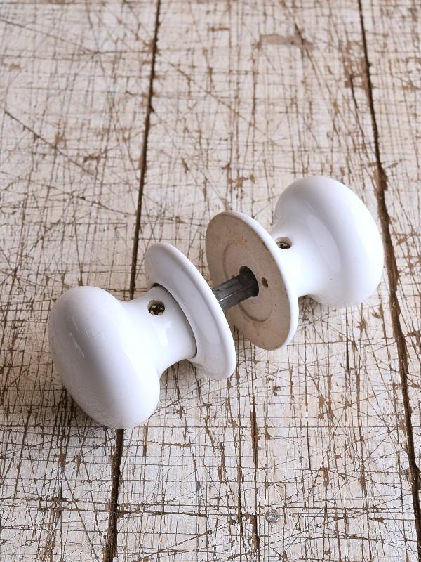 イギリス 陶器製 ドアノブ 建具金物 握り玉 9124