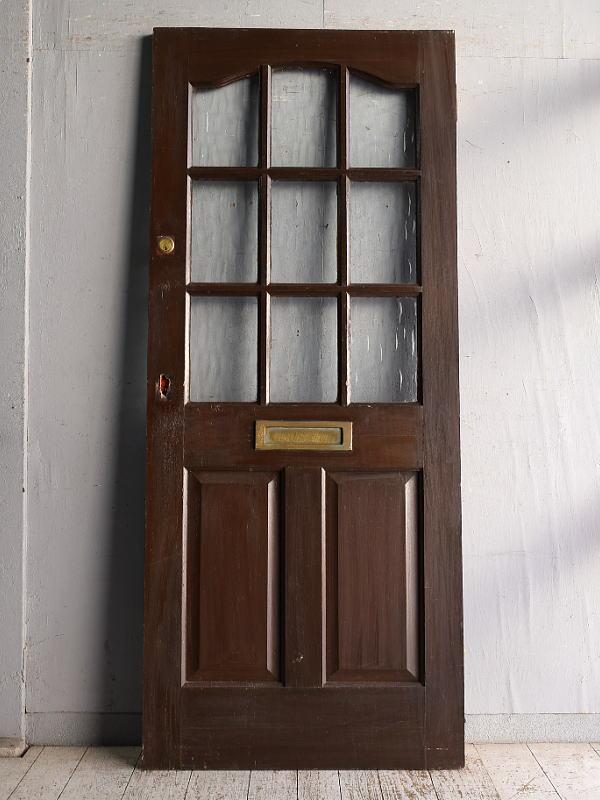 イギリス アンティーク ガラス入りドア 扉 建具 9129