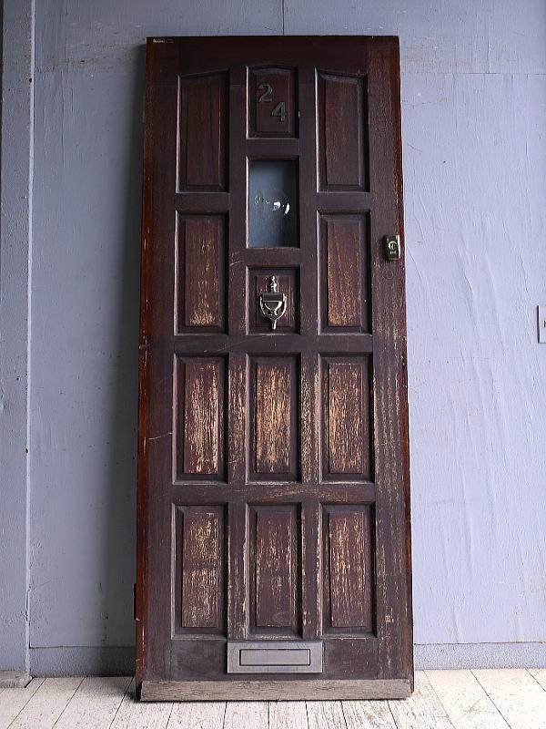 イギリス アンティーク ガラス入りドア 扉 建具 9130