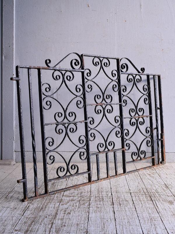 イギリス アンティーク アイアンフェンス ゲート柵 ガーデニング 9135