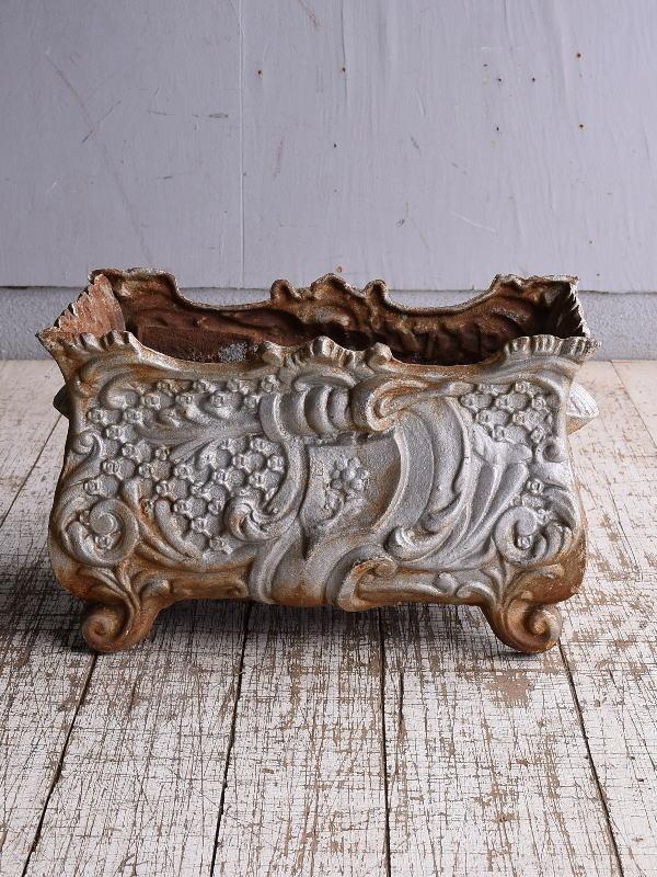 フレンチ アンティーク 鉄製 プランター 植木鉢 9147